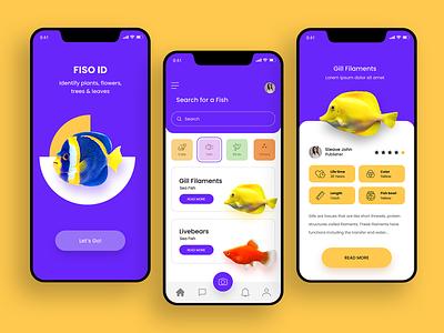 Fiso id #Dailyui color water fish branding flat ux paviart web app ui website illustration design