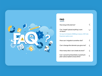 FAQ #Dailyui answer questions faq dailyui branding flat ux paviart web app ui website illustration design