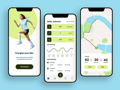 Running App #dailyui running app minimal dailyui flat ux paviart web app ui website illustration design