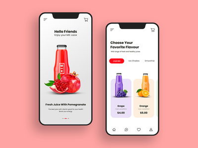 MIX fresh juice #dailyui branding ux flat paviart web ui app website illustration design