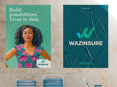Wazinsure || Branding 1 of 3 enterprise insurance agency kenya typography design branding logo serif fonts africa