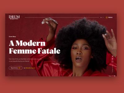 Drum Magazine || Landing Page