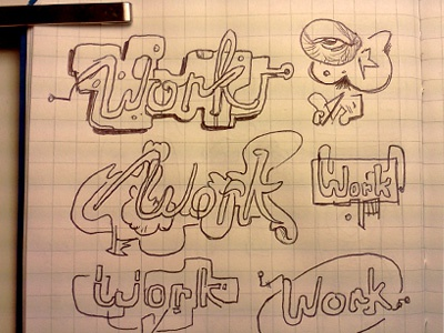 Neon signage sketches