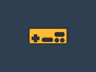 Dendy gamepad dandy old play flat illustrarion icon game clean