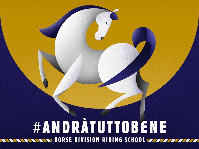 Horse / Hope vector riding school animal covid hope horse club riding equestrian horse illustration