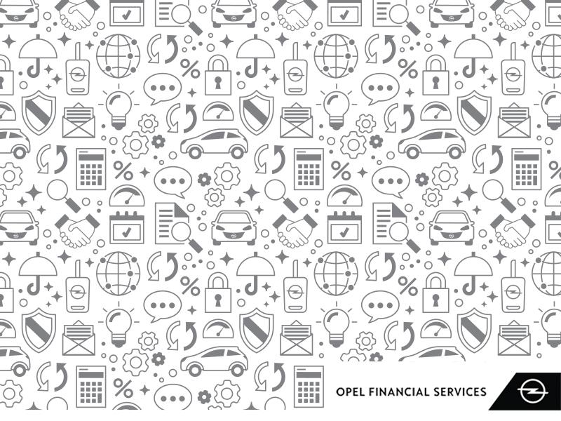 opel financial services pattern by silvia ciurluini dribbble dribbble. Black Bedroom Furniture Sets. Home Design Ideas
