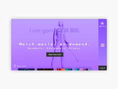 Fake movie streaming website.