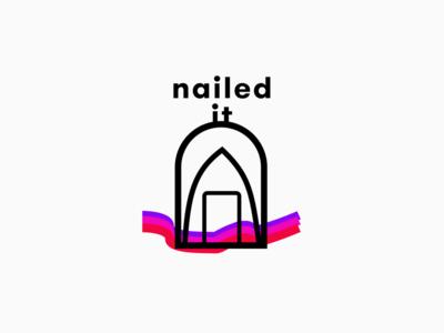 Nail salon logo.