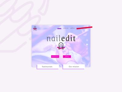Nail salon landing page