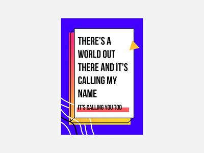 Lyric poster bright colorful retro design 80s design retro song lyric poster poster design music tame impala