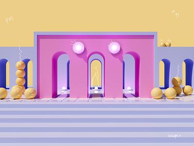 3D architectural illustration concept 3d illustration ui design