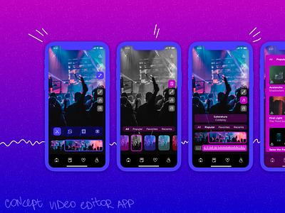 Video editor app concept figma vector app icon ui design