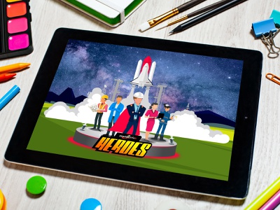 """Rocket Launch"" Vector art illustration workers launch pad rocket launch landingpage digital art heroes space shuttle illustraion vector art rocket logo"