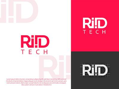 Creative tech typography logo design simple logo red and black minimalist logo logo design creative ii logo typography logo tech logo