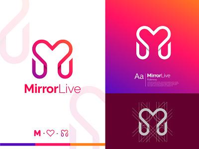 Heart shape M letter logo logodesign logo mark letter logo creative heart logo red hearts m and heart heart shape logo m letter logo