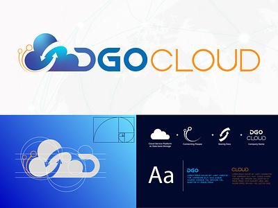 Blue cloud logo design futuristic design network logo cloud computing creative cloud typography blue and orange tech logo cloud storage blue cloud cloud logo