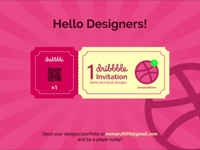 Dribbble invitation (CLOSED) creative logo invitation dribbble ticket invitation design invitation card dribbble best shot invite giveaway dribbble invite
