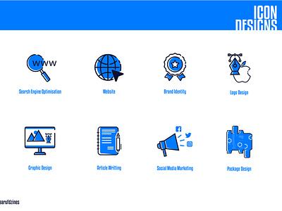 Icon Design brand identity logomark article writting icon logo icon packaging icon modernicon flaticon icon