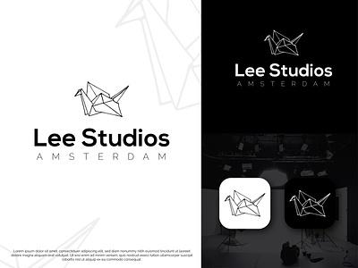 Studio logo redesign black and white logo bird origami origami logo bird logo minimalist logo studio