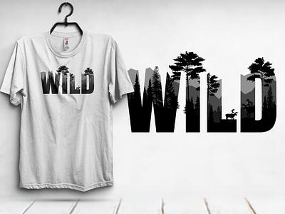 WILD Typography tshirt design