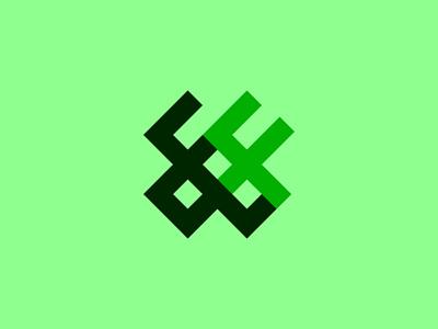 """Green Grid Logo representing 88"" simple logo branding bran logo designer abstract logo design neomonical logo rectangular logo green color pallet 3d logo eye catchy logo flat logo golden ratio logo illustration minimalist logo creative logo typography brand identity number logo green minimalistic logo grid logo"