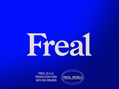 FREAL-01 branding art direction typography