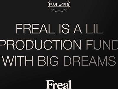 FREAL-02 branding art direction typography
