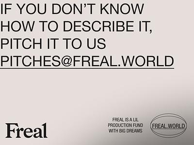 FREAL-03 branding art direction typography