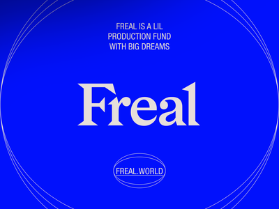FREAL-04 branding art direction typography