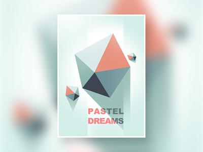 Pastel dreams vector clean art minimal geometric digitalart digital art graphic design print posterdesign poster illustration graphicdesign