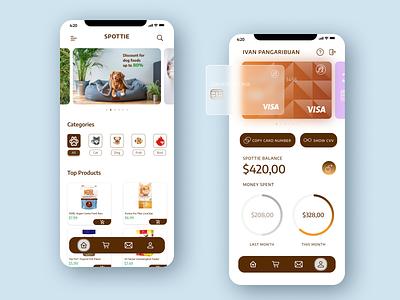 Spottie - Pet Shop App adobe xd figma mobile app design mobile app petshop pet user interface design userinterface uidesign uiux