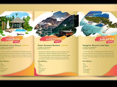Travel Tourism flat vector illustration brochure brand identity design branding