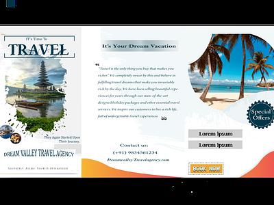 Travelling Brochure designs modern marketingbrochure marketing brochure brand identity design illustration branding