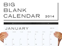 Big Blank Calendar 2014
