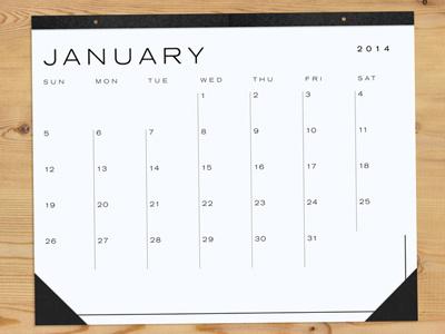 Big Blank Calendar 2014 calendar kickstarter 2014