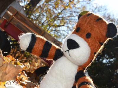 Stuffed Hobbes needle felting calvin and hobbes hobbes 3d