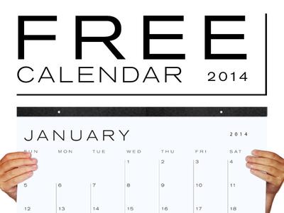 FREE 2014 Calendar Download
