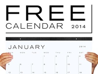 FREE 2014 Calendar Download