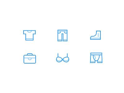 life icons  underwear bras bag shose pants t-shirt