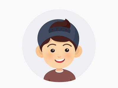 Portrait  hat boy portrait