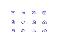 Weekly Project-line style icons week