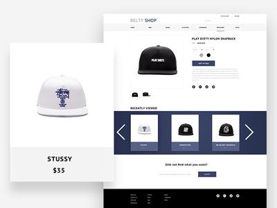 Shop website clothes hat ui web shop