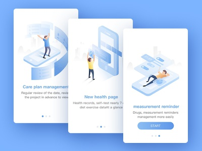 Dribbble 100day 008-guide pages 2.5d phone man page guide illustration icon ui 100day