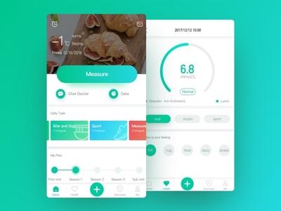 Dribbble 100day 009 data homepage app healthcare measure
