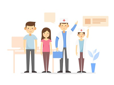 Dribbble 100day 013 doctor illustration hospital character medical