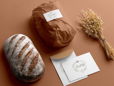 Bakery Logo on product branding icon vector logo design market business shop bakery