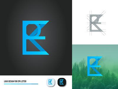 EPK LETTER LOGO (CONCEPT 1) sketch web vector ui simple logo illustrator identity design creative concept color clean branding brand art app 3d letter logo letter