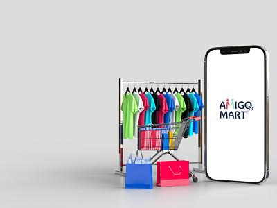 Online Business Logo device ui business simple mockup minimal logo identity icon flat design color concept clean creative brand branding art app 3d