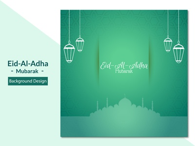 Lovely islamic eid al adha greeting background minimal vector mockup identity design flat 2d islam beautiful modern creative clean ux ui branding brand eid al adha eid mubarak eid qurban