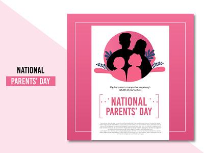 Modern National parents' day background design free vector illustration ui concept flat clean creative brand branding design